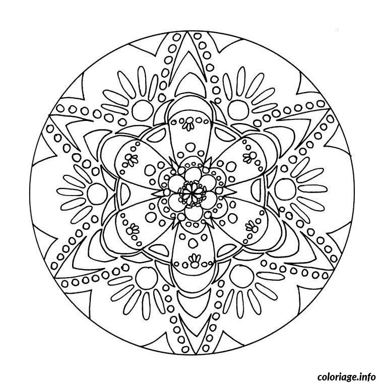 Coloriage Mandala Noel Boule Jecoloriecom
