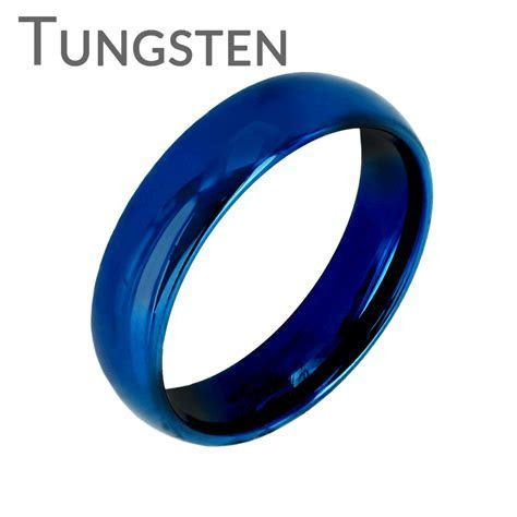Blue Bayou 6mm   Tungsten Carbide 6mm Polished Traditional