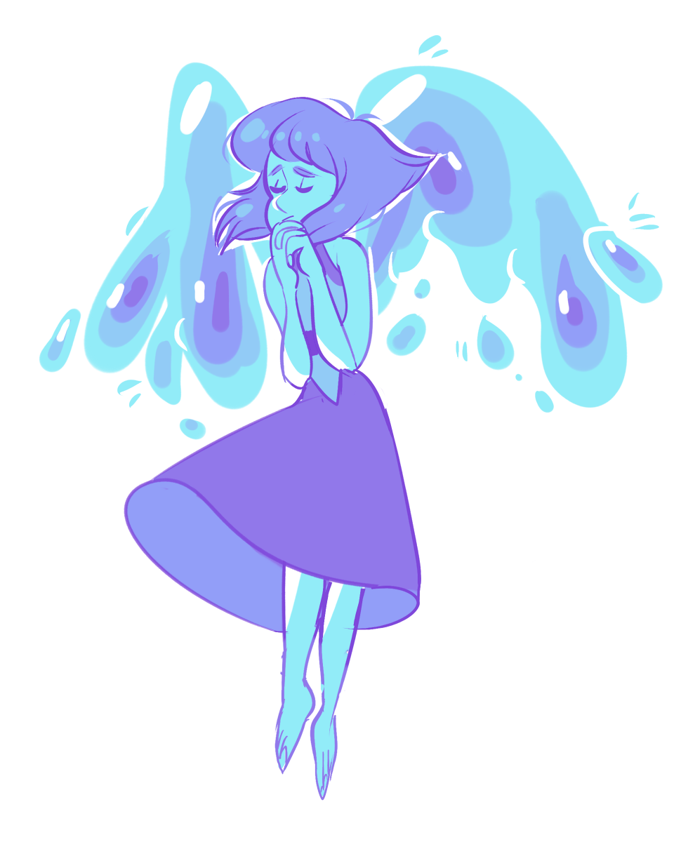 first picture is the lapis drawing i did a year ago for a palette challenge, i ended up not really liking it so i had to redraw it at some point
