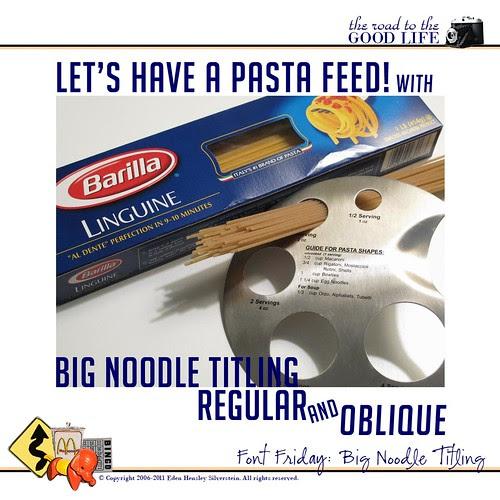 Font Friday: Big Noodle