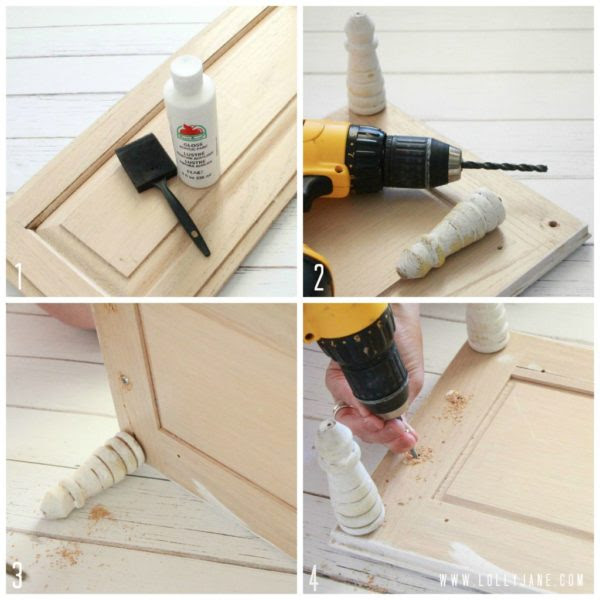 How to make a cupboard serving tray with handles by Lolly Jane