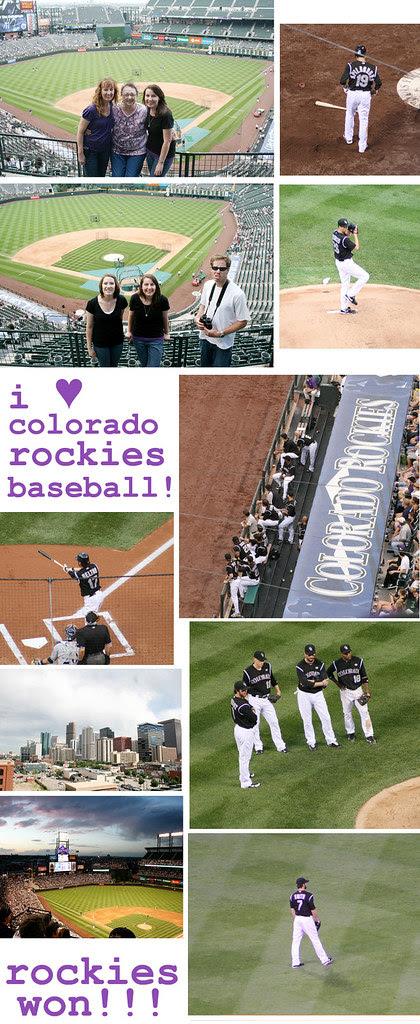 rockies baseball collage