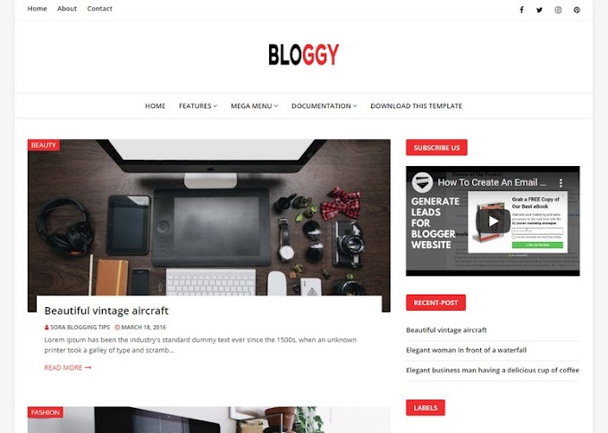 Bloggy Blogger Template