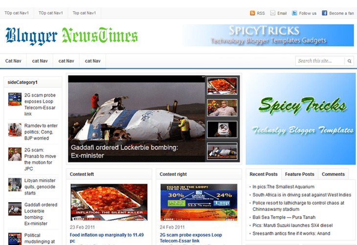 News Templates For Blogger 10 Best Free Newspaper Templates For