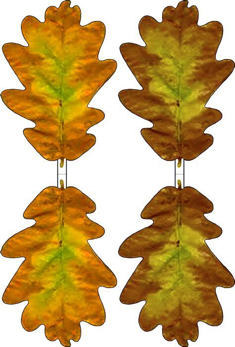 Brown and Yellow Paper Oak Leaf Decoration   Rooftop Post