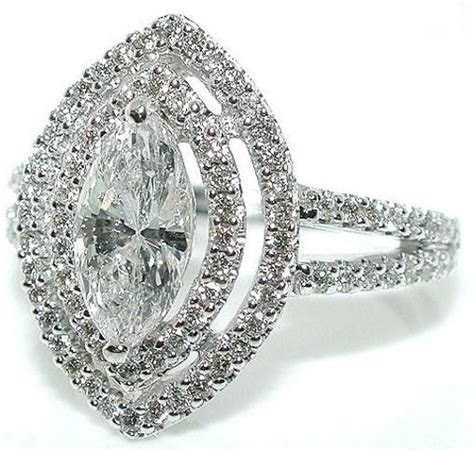Details about 1.7 CT DOUBLE HALO MARQUISE DIAMOND