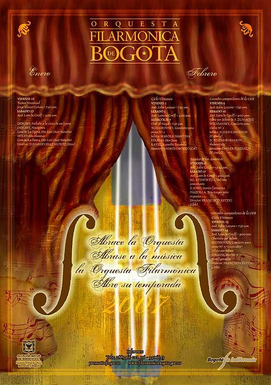 diseño de Cartel para Filarmonica de Bogotá por Hache holguín