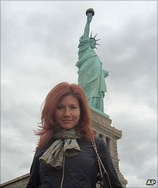 """A photo said to be of suspect Anna Chapman on the Russian social  networking website """"Odnoklassniki"""", or Classmates"""