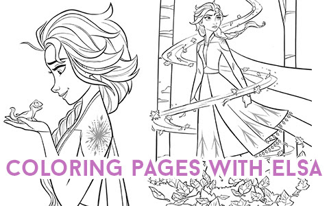 Frozen 2 Elsa And Gale Coloring Pages Coloring And Drawing