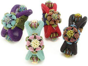 Jacobean Floral Bracelet ©2012 by Cynthia Rutledge