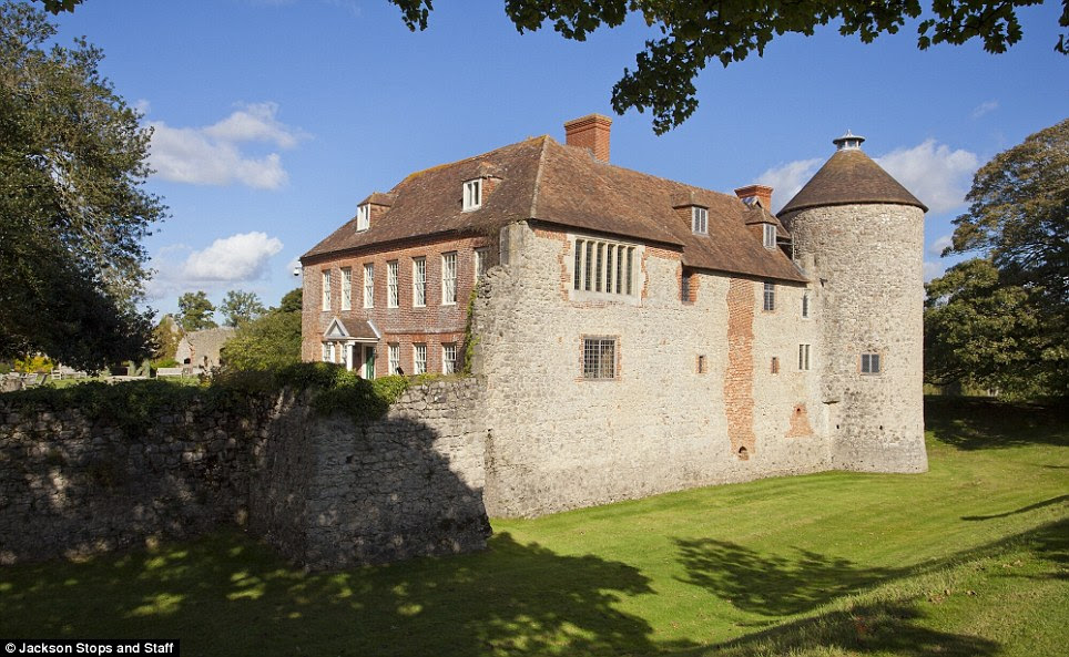 Ancient: Westenhanger Castle in Kent dates from 1035 and the reign of King Canute but was modernised during the reign of Elizabeth II. It is on the market for £2.6 million