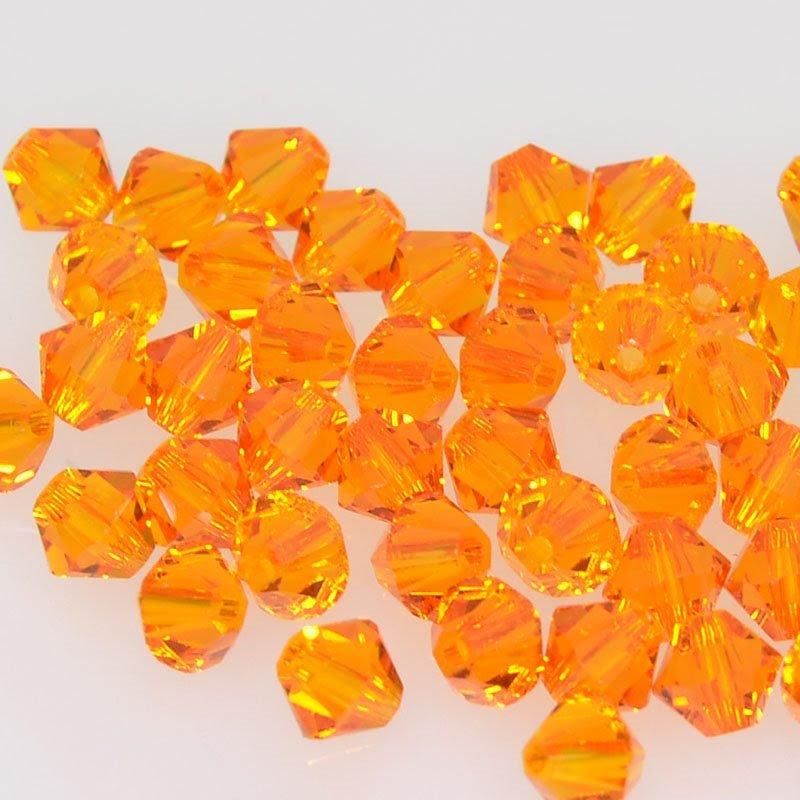 27753011777259 Swarovski Bead - 5 mm Faceted Xilion Bicone (5328) - Tangerine (20)