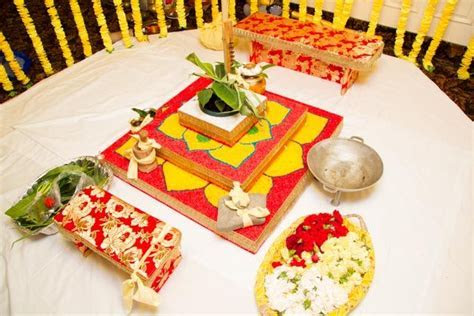 Mandap details, this is a Bedi, it has three steps and is