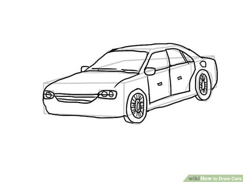 easy ways  draw cars  pictures wikihow