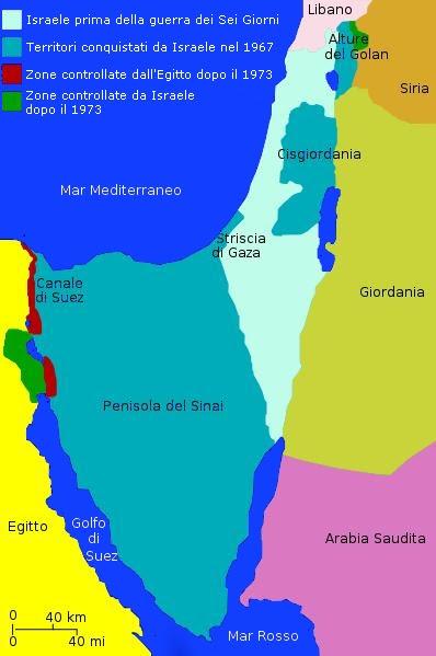 La mappa della guerra del Kippur