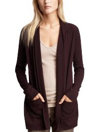 Women: Long wrap cardigan - vineyard