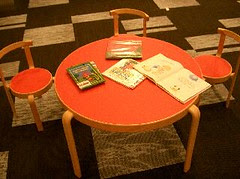 Books left on the table - Children Section
