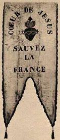 Bannière des Zouaves Pontificaux à Loigny