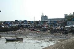 Mumbai en Inde bidonville