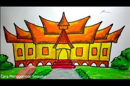 Cara Menggambar Rumah Adat Joglo Jawa Tengah Rumah Joglo Limasan Work