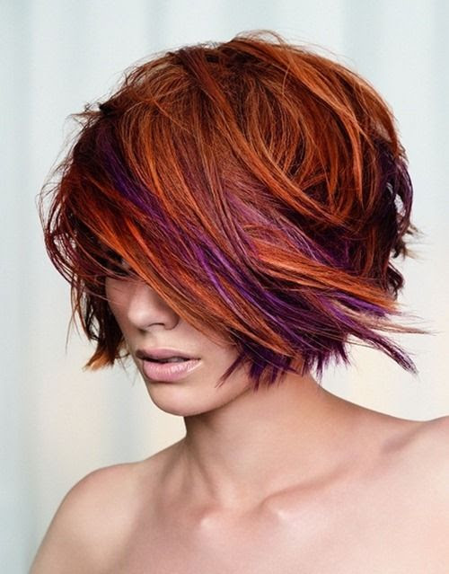 Copper and purple hair  Body  Pinterest