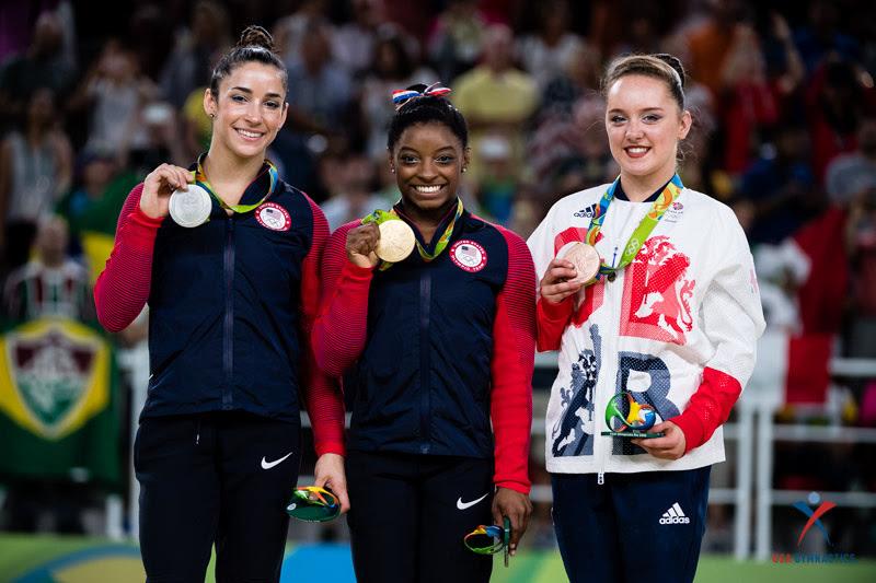 USA Gymnastics: Aug. 16 - Event Finals Day 3 &emdash; Floor exercise medalists