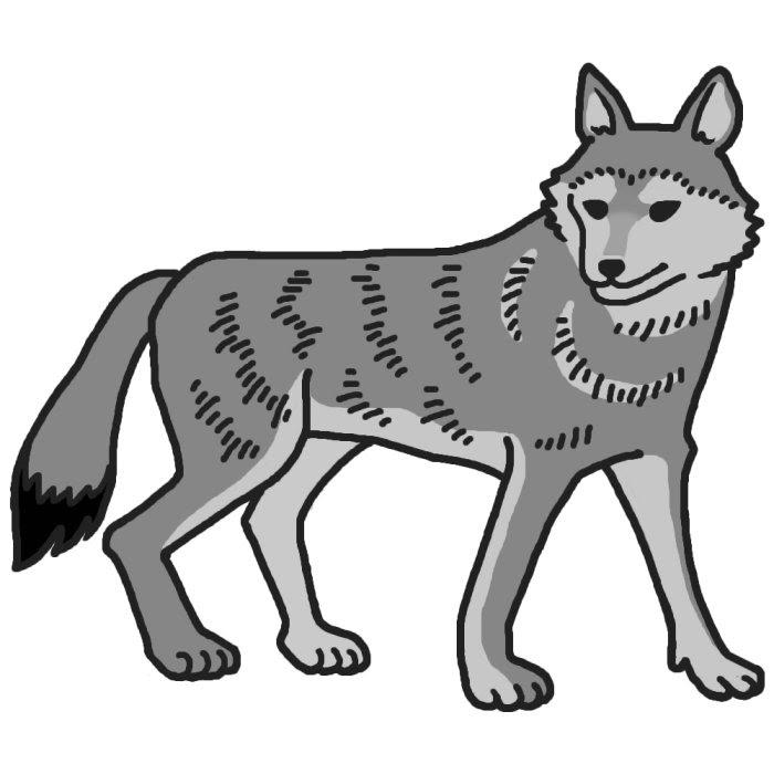 画像 素材集かわいい カッコイイ オオカミのイラストまとめ
