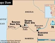 L'area interessata dalla diga Epupa (da Internationalrivers.com)