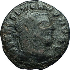 SEVERUS II 305AD Rare Quarter Follis Authentic Ancient Roman Coin GENIUS i66341
