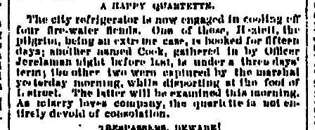 A Happy Quartette - May 30 1883 Oregonian
