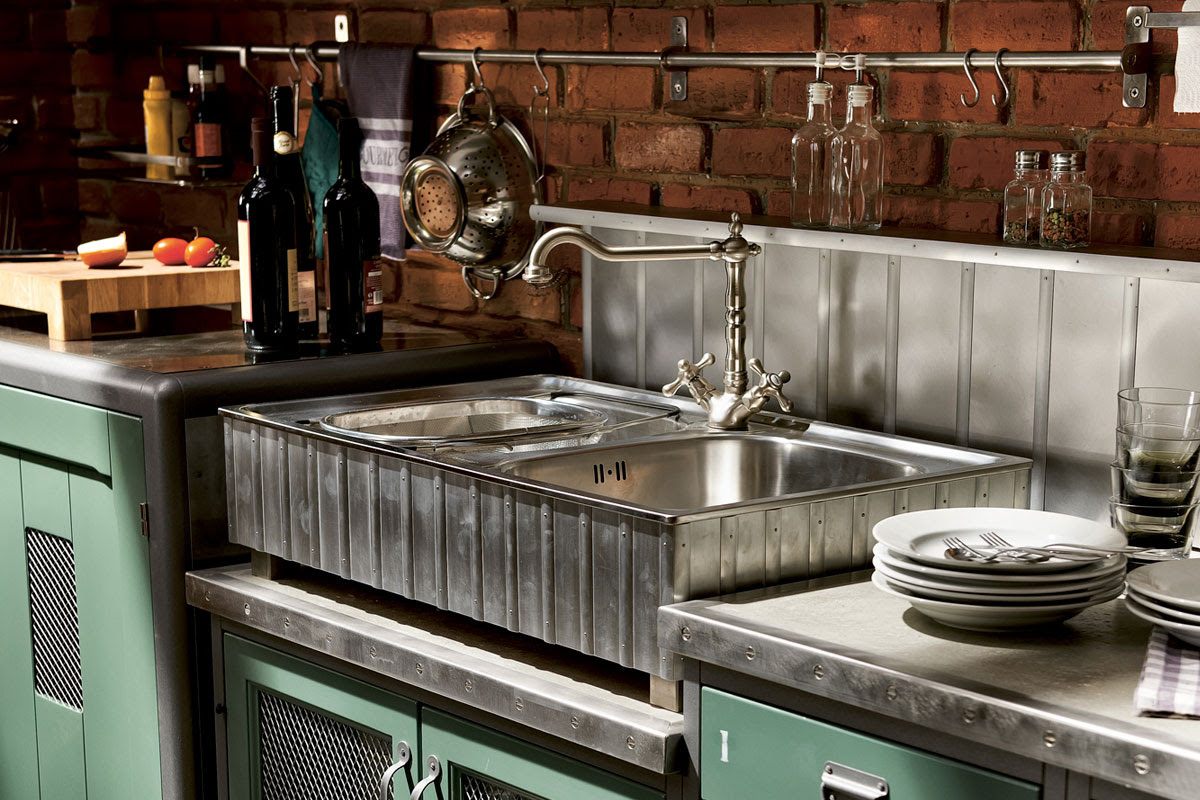Vintage and Industrial Style Kitchens by Marchi Group ...