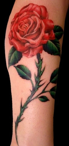 Awesome Red Rose Tattoo Design Of Tattoosdesign Of Tattoos