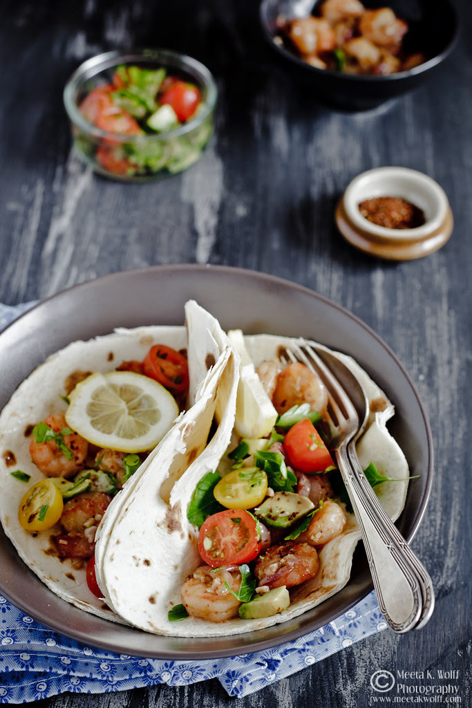 Prawn Ginger Garlic Tacos (0035) by Meeta K. Wolff