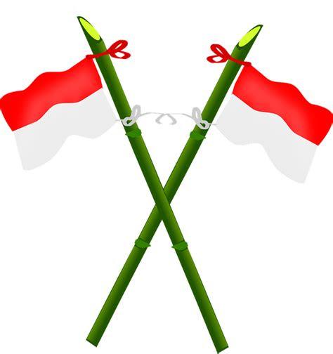 tiang bendera bambu gambar vektor gratis  pixabay