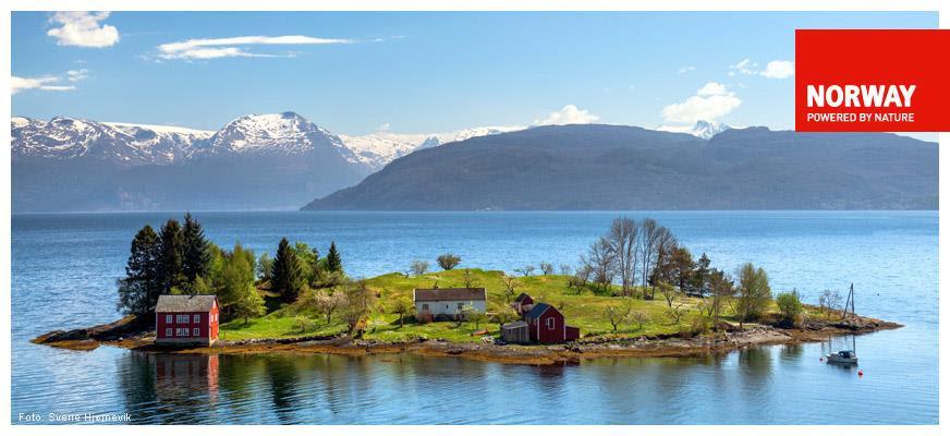 Omaholmen nell'Hardangerfjord