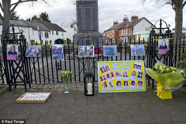 This makeshift shrine to Madeleine McCann appeared in Rothley this week.Children lit candles to remember Madeleine and parents read aloud messages of hope including: 'Never, never give up!'