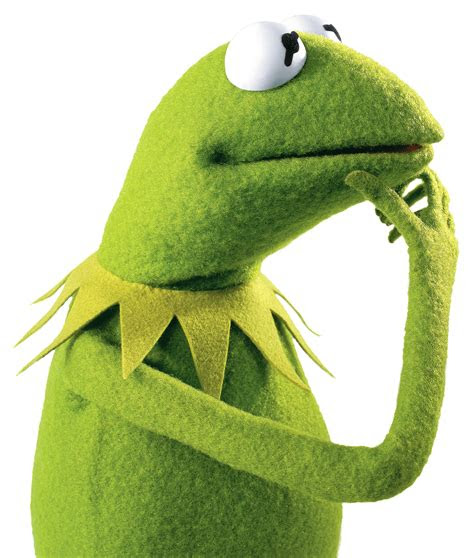 kermit  frog thinking transparent png stickpng