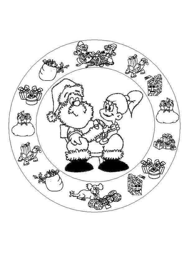 Mandalas De Noël Coloriages Coloriage à Imprimer Gratuit Fr