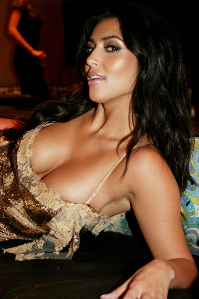 exposed kim kardashian in bikini