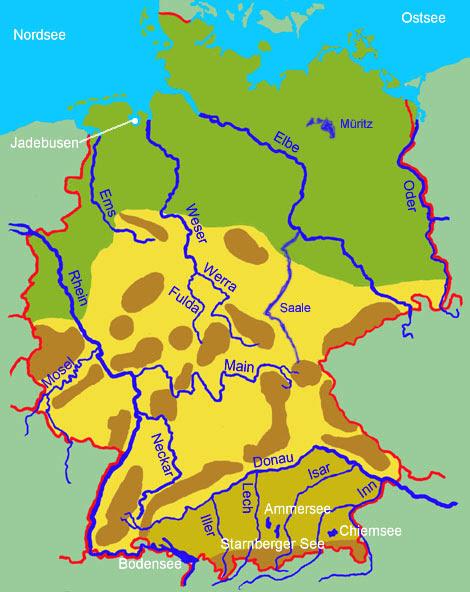Deutschland Flüss Karte – World Map, Weltkarte, Peta Dunia ...
