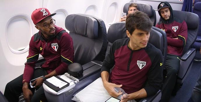 Jogadores São Paulo Avião (Foto: Rubens Chiri/saopaulofc.net)