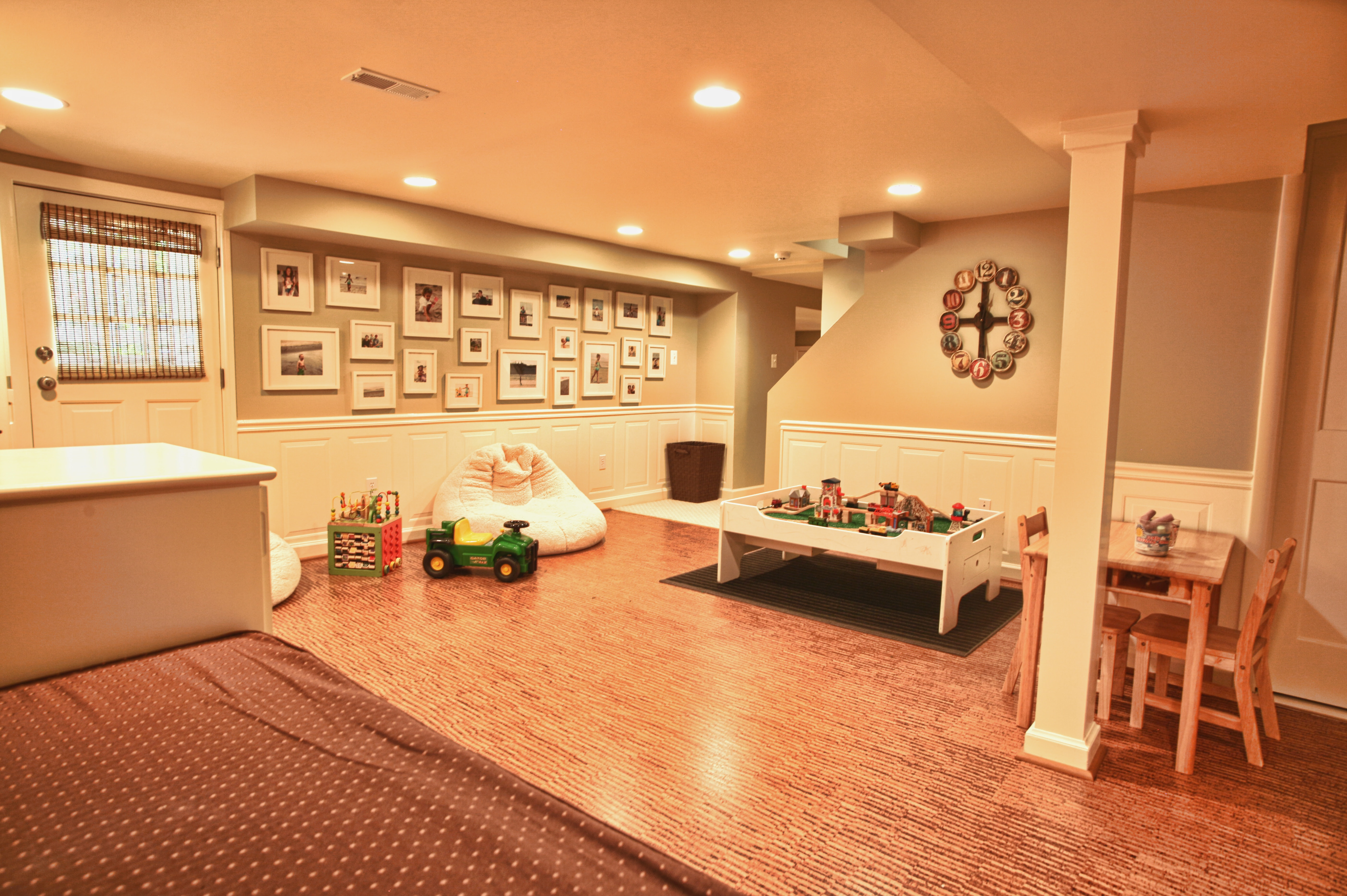 Eco-Friendly Children's Play Room Basement Redesign | Kreative ...