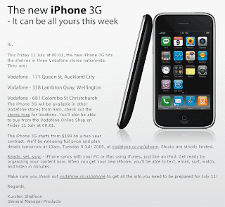 iPhone 3G Available from the First Minutes of July 11 in New Zealand