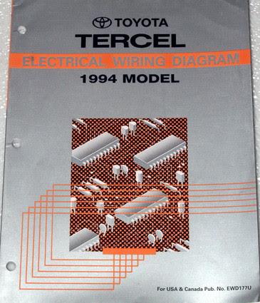 1994 Toyota Tercel Electrical Wiring Diagrams Original ...