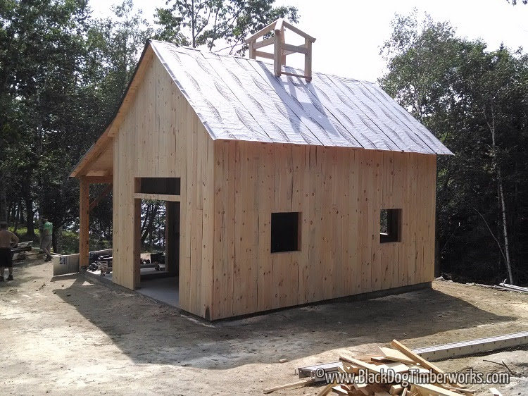 16 X 24 Timber Frame Barn Black Dog Timberworks
