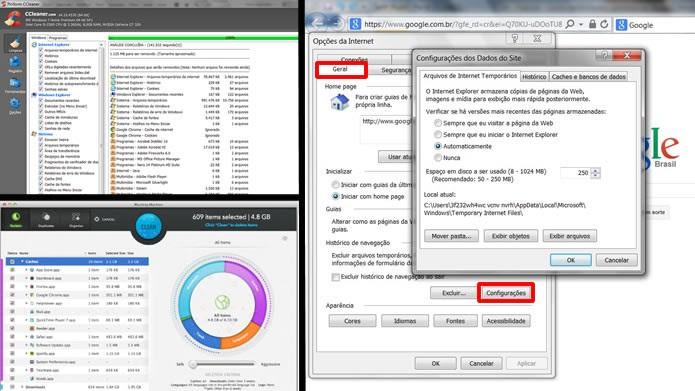 Elimine informações desnecessárias de seu browser através de métodos internos ou com aplicativos específicos (Foto: Reprodução/Daniel Ribeiro)