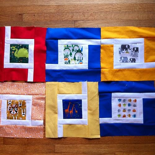Happy Drawing quilt in progress. Using @sewcraftyjess 's Jungle Path tutorial