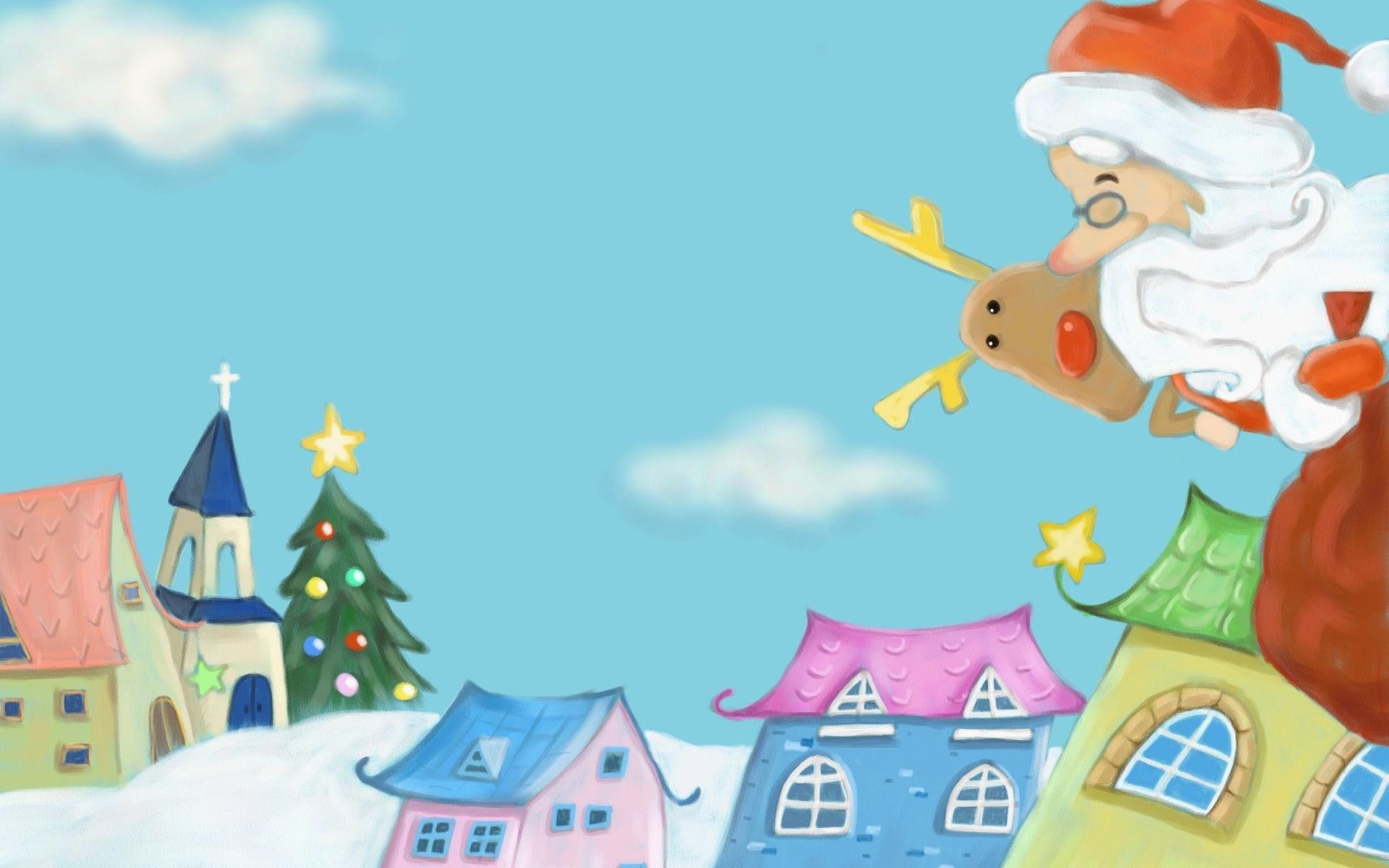Cute Cartoon Christmas Tree Wallpaper Get Images