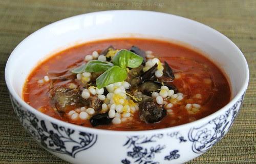 Burnt Aubergine & Mograbieh Soup 2
