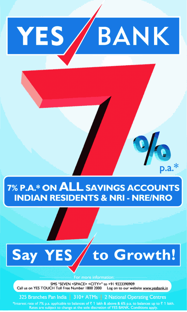 yes bank 7 percent saving interest rate 613x1024